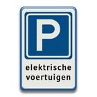 Verkeersbord E04 + tekstregels elektrische voertuigen