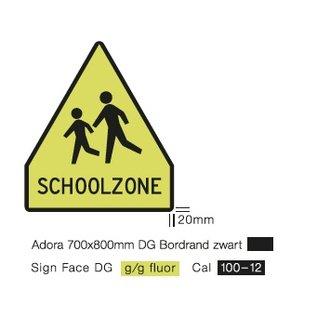 Schoolzone attentiekoker lang met bord