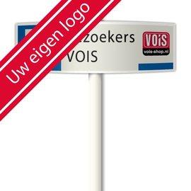 Parkeerplaatsbord Eigen tekst en logo deluxe