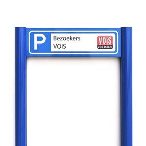 Luxe parkeerplaatsbord 2 staanders met eigen tekst, logo, ontwerp 500 x 150 mm