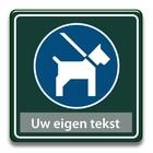 Honden aan de lijn eigen tekst