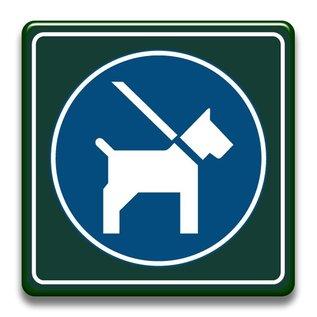 Honden aan de lijn 400 x 400 mm