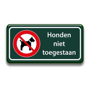 Honden niet toegestaan 400 x 200 mm