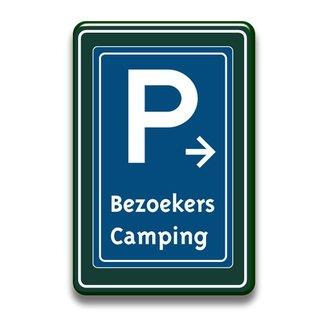 Parkeerbord bezoekers met of zonder pijl 400 x 600 mm