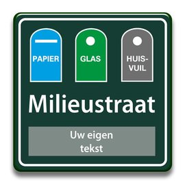 Milieustraatbord eigen tekst