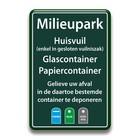 Milieuparkbord-huisvuil-glas-papier