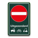 Verboden toegang bord + picto's