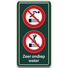 Zwembadbord verboden duiken + springen