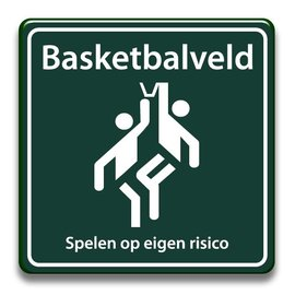 Basketbalveld eigen risico