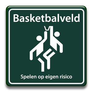 Basketbalveld eigen risico 400 x 400 mm
