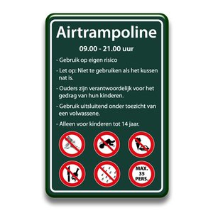 Airtrampoline bord regels 400 x 600 mm