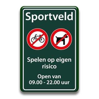 Sportveld regels 400 x 600 mm