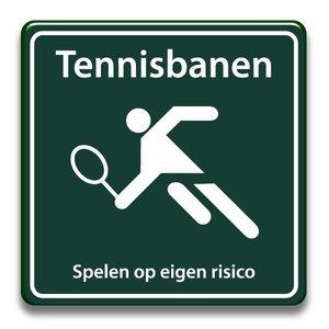 Tennisbanen eigen risico 400 x 400 mm
