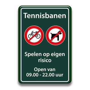 Tennisbanen regels 400 x 600 mm