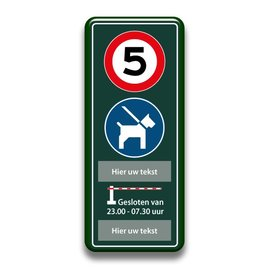 Snelheid + honden + slagboom eigen tekst