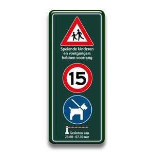 Sp. kinderen + snelheid + honden + slagboom 400 x 1000 mm