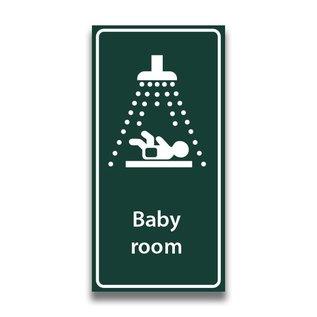 Toiletbord babyroom met tekst