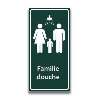Toiletbord familiedouche met tekst
