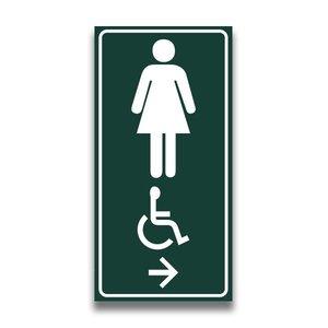 Toiletbord mindervaliden dames met pijl