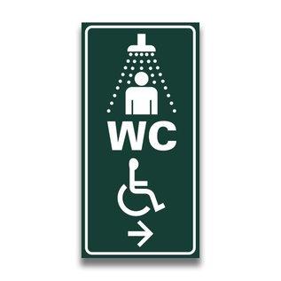 Toiletbord sanitair mindervaliden met pijl