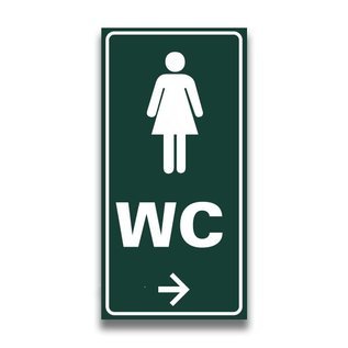 Toiletbord toilet dames wc met pijl