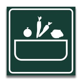 Toiletbord wasplaats groenten