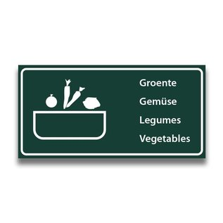 Toiletbord wasplaats groenten met tekst