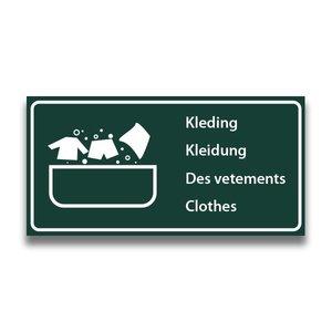 Toiletbord wasplaats kleding met tekst