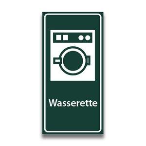Toiletbord wasserette met tekst