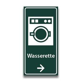 Toiletbord wasserette met pijl