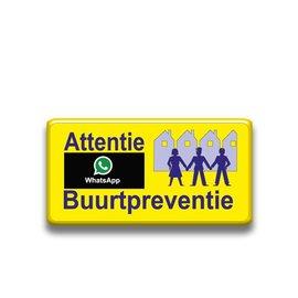 Verkeersbord buurtpreventie geel