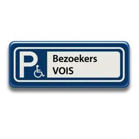 Parkeerplaatsbord P Invalide Eigen tekst