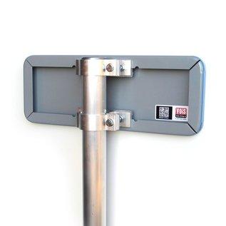 Parkeerplaatsbord P Invalide Eigen tekst 400 x 150 mm
