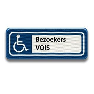 Parkeerplaatsbord Invalide Eigen tekst 400 x 150 mm