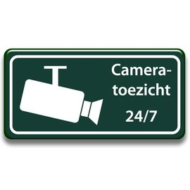 Cameratoezicht 24/7 bord