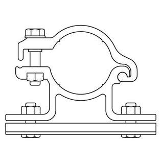 Bordbeugelset (2 stuks) ALU RAL 3004 enkelzijdig (001)