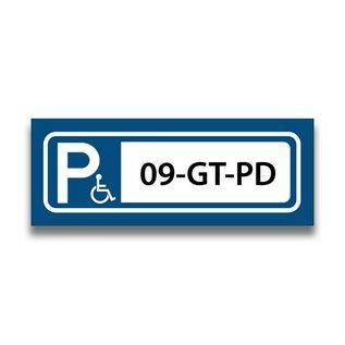 Volkern vlakbord parkeren invalide eigen tekst 400 x 150 mm