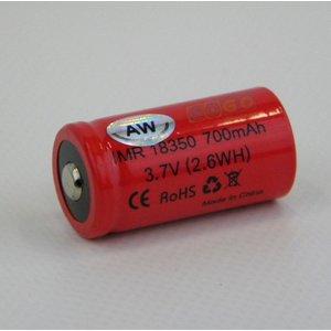 AW 18350 700mAh batterij