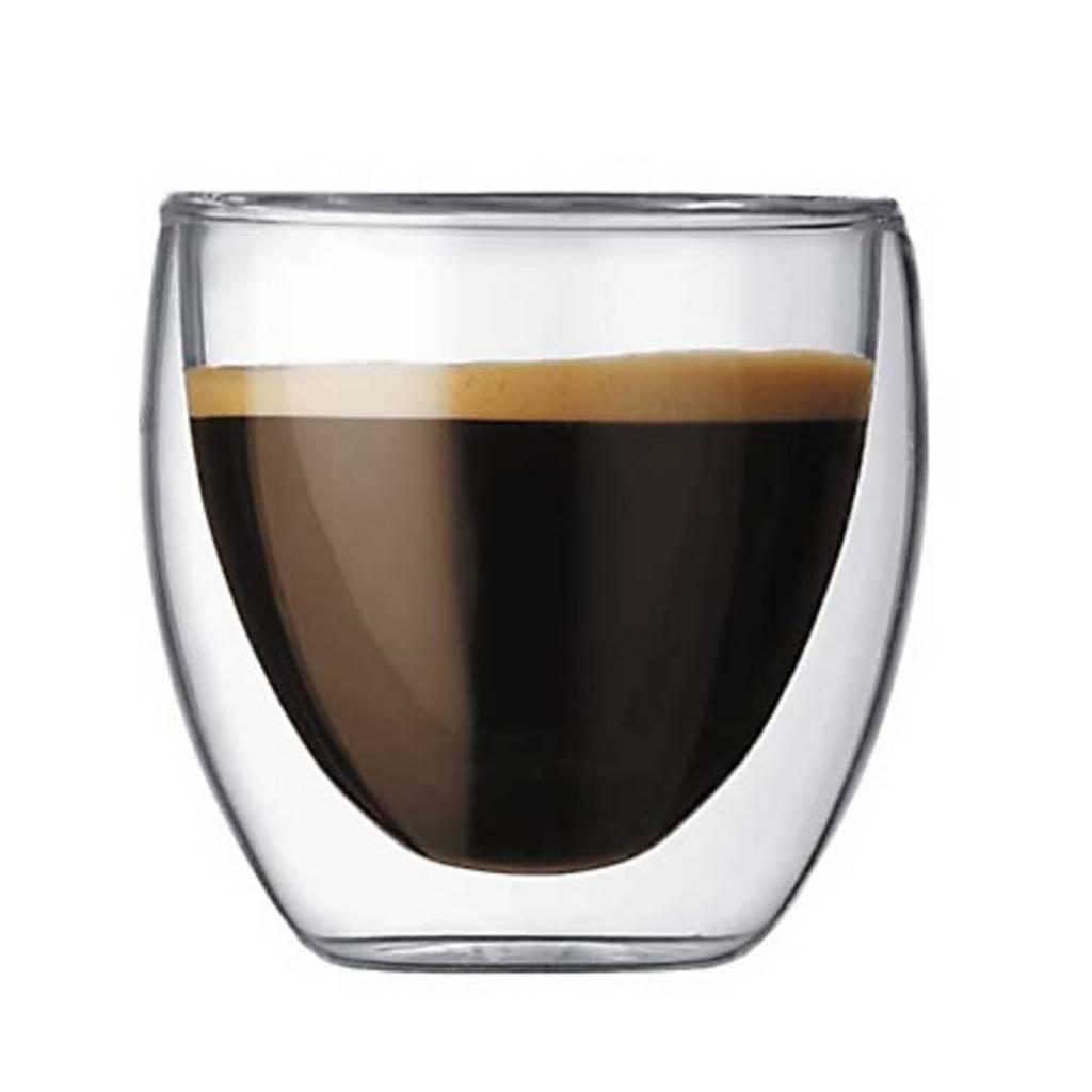 Bodum Pavina XS dubbelwandige glazen (set van 6)