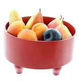 Bladi Design Panier à fruits bois laqué M - Rouge