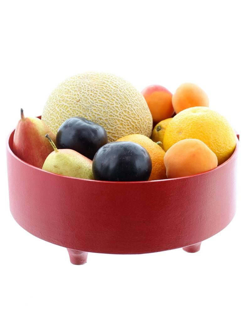 panier fruits bois laqu l rouge rue du maroc. Black Bedroom Furniture Sets. Home Design Ideas