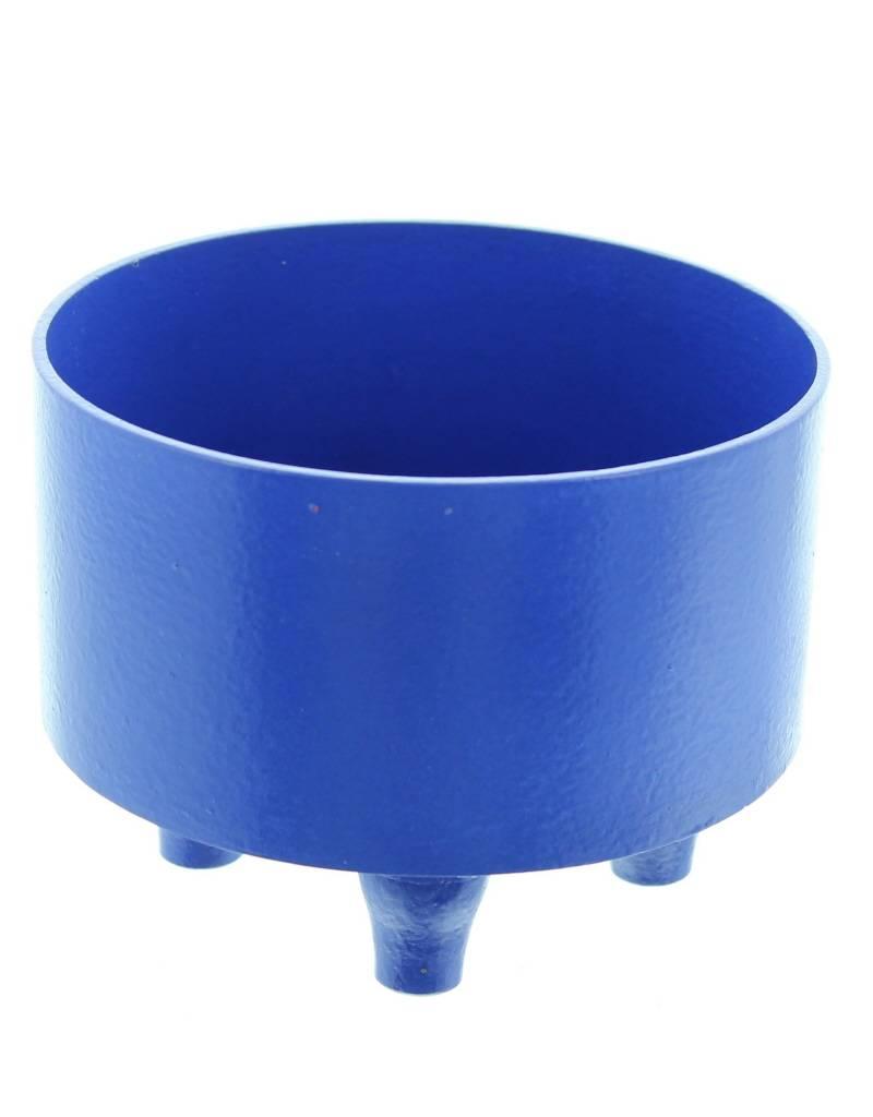 Bladi Design Panier à fruits bois laqué S - Bleu