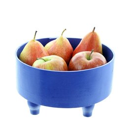 Bladi Design Serving bowl in beechwood M - Blue