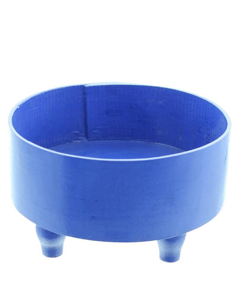 Bladi Design Presenteerschaal uit gelakt hout M - Blauw