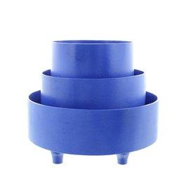 Bladi Design Set presenteerschalen uit gelakt hout - Blauw