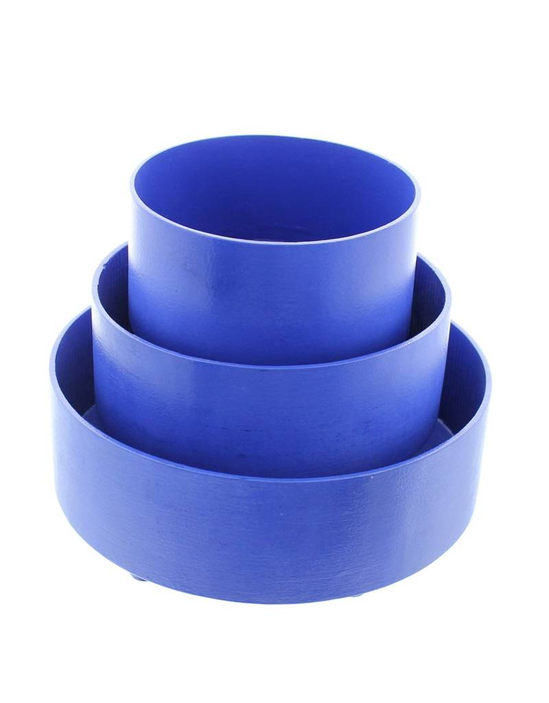 Bladi Design 3 Paniers à fruits en  bois laqué - Bleu