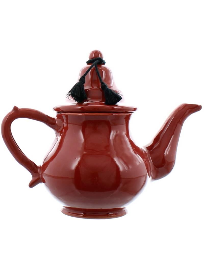 Bladi Design Théière en céramique - Rouge brique