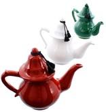 Bladi Design Theepot in ceramiek - Rood