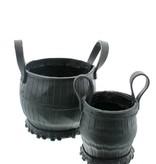 Bladi Design Bloempot uit gerecycleerd rubber - Zwart