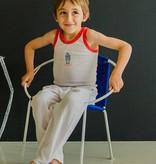 Bladi Design Gevlochten kinder stoel  in staal - Blauw